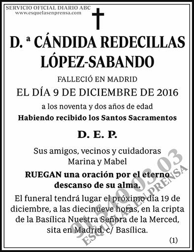 Cándida Redecillas López-Sabando